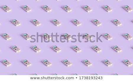 Digital News Button in Flat Design on Orange Background. Stock photo © tashatuvango