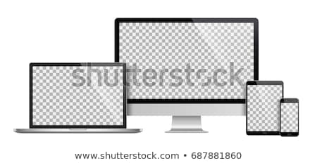 realistic tablet laptop smartphone and display set vector stock photo © mpfphotography