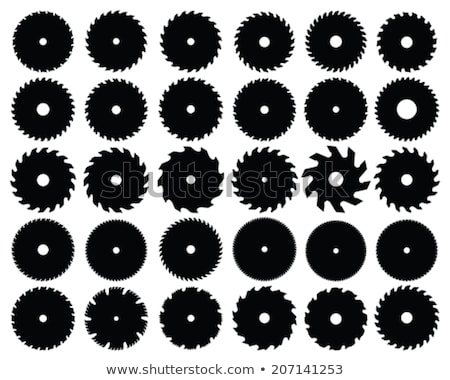 fűrész · penge · fekete · 3d · illusztráció · építkezés - stock fotó © m_pavlov