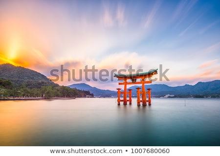 Torii gate in Miyajima, Japan Stock photo © photosil