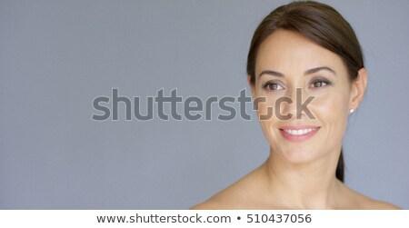 улыбаясь брюнетка женщину голый Плечи Сток-фото © dash