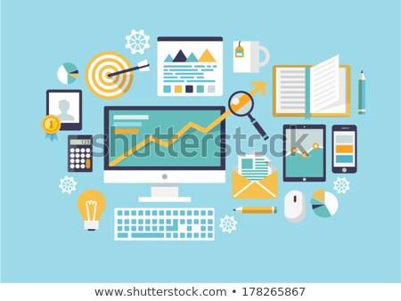 クリップボード ペン コンピューターのマウス 図 紙 デザイン ストックフォト © jossdiim