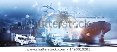 логистика стилизованный иллюстрация транспорт океана знак Сток-фото © tracer