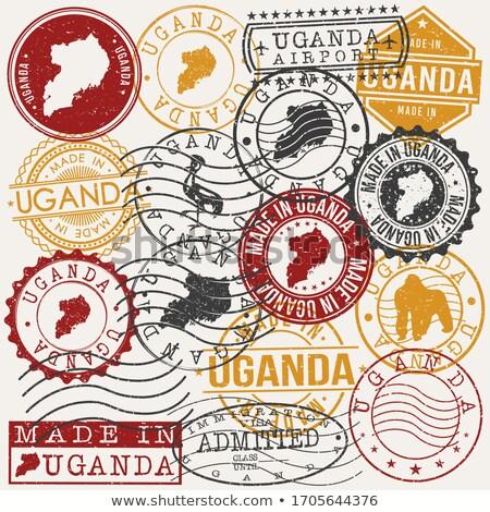 Icono Uganda aislado blanco signo Foto stock © MikhailMishchenko