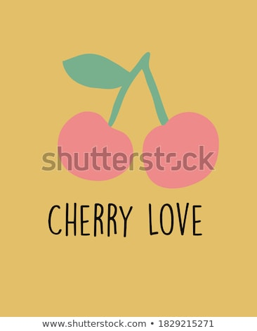 lány · cseresznye · kéz · kislány · gyermek · gyümölcs - stock fotó © nizhava1956
