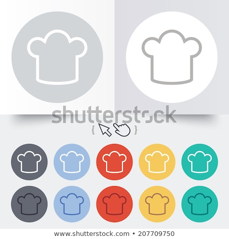 Chef hat and cursor Stock photo © alexmillos
