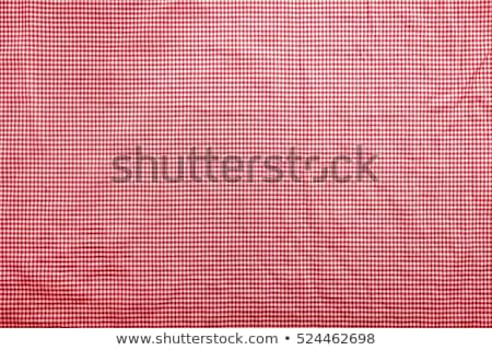 Red and white wrinkled checkered tablecloth Stock photo © stevanovicigor