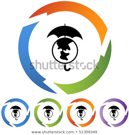 Protected Circular Purple Vector Web Button Icon Stock photo © rizwanali3d