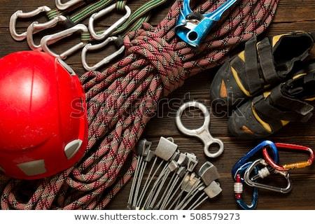 Tırmanma dişli yalıtılmış beyaz arka plan güvenlik Stok fotoğraf © wime