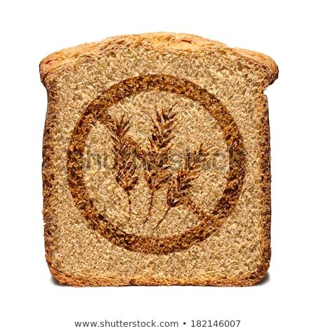 ブラウン 小麦 無料 標識 孤立した 白 ストックフォト © slunicko