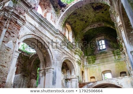 Eski kilise cam seyahat Stok fotoğraf © wime
