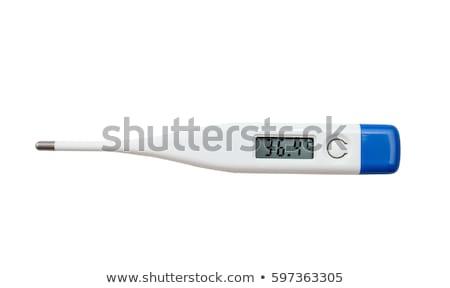 elektronikus · hőmérő · kilátás · afroamerikai · orvos · tart - stock fotó © ozaiachin