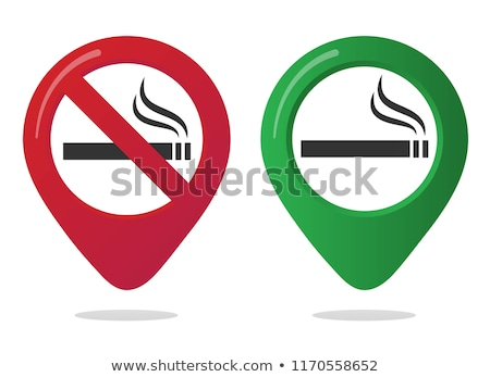Dohányozni tilos zöld vektor ikon terv internet Stock fotó © rizwanali3d