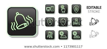 Wifi wektora zielone web icon zestaw przycisk Zdjęcia stock © rizwanali3d