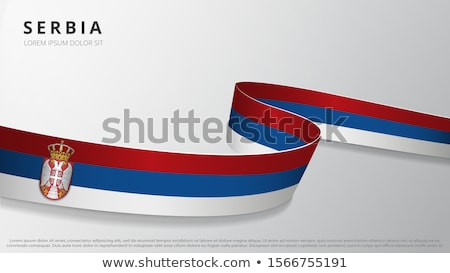 Serbian national flag Stock photo © IvicaNS
