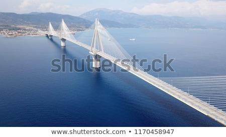 Рио · моста · реальный · название · Греция · закат - Сток-фото © igabriela