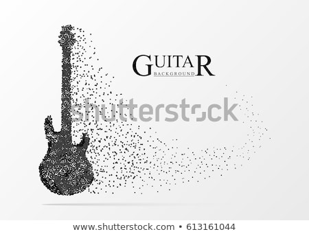 abstract musical background electric guitar Stock photo © lem