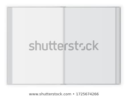 Livre ouvert isolé gris papier art Photo stock © axstokes