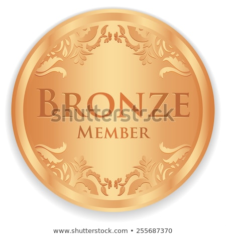 bronze member badge with vintage pattern stock photo © liliwhite