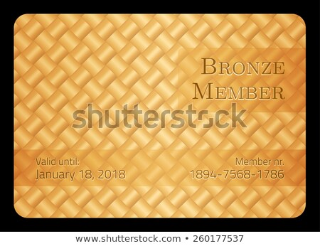 Stock photo: Bronze member card with diagonal crossing bar template