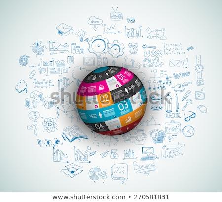Stock photo: Flat Style Concept for Social Media, Agenda organization and digital marketing