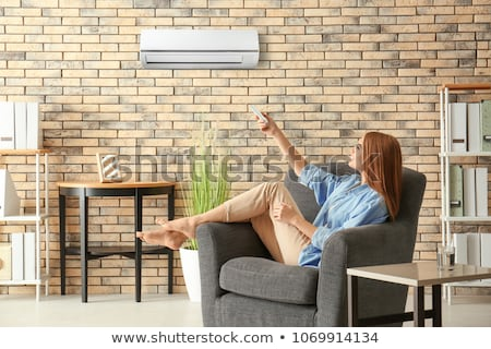空調装置 光 緑 電源 白 クール ストックフォト © ozaiachin