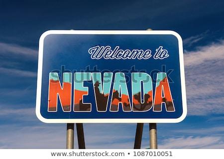 Nevada · üdvözlet · felirat · Hoover · Dam · hegyek - stock fotó © Rigucci