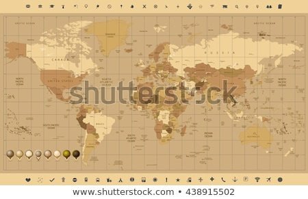 high detailed vector map of france with navigation pins stock photo © tkacchuk