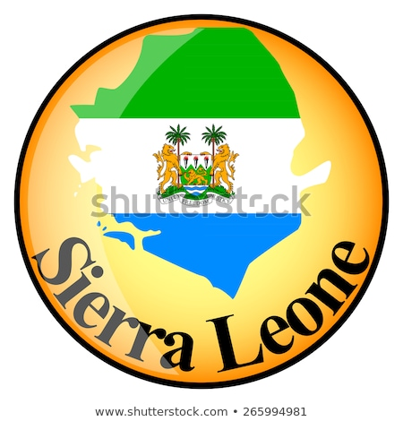 orange button with the image maps of button Sierra Leone Stock photo © mayboro