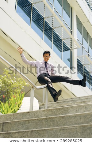 kínai · üzletember · sín · öröm · fiatal · boldog - stock fotó © diego_cervo