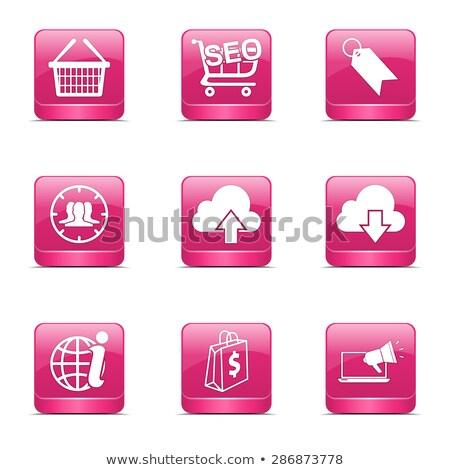 Seo Internet signo cuadrados vector rosa Foto stock © rizwanali3d