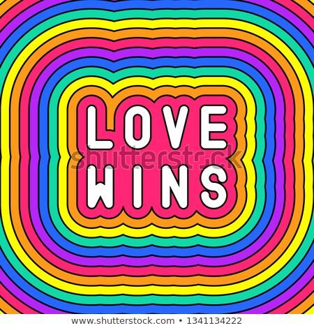 homoszexuális · Amerika · leszbikus · büszkeség · szivárvány · zászló - stock fotó © elisanth