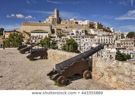Cannons in Ibiza, Spain Stock photo © smuki