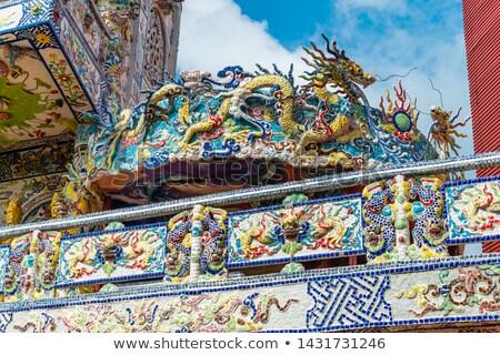 Сток-фото: храма · подробность · Вьетнам · дизайна · цвета