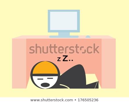üzletember alszik asztal fiatal irodai asztal iroda Stock fotó © wavebreak_media