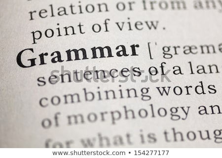 Stock photo: Grammar Dictionary Definition