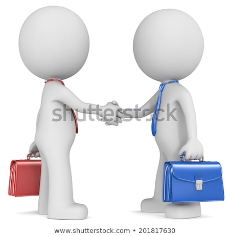 3d characters hand shaking Stock photo © get4net