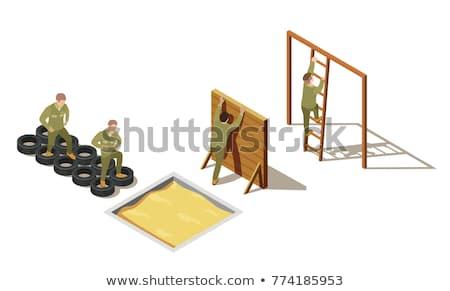 Charakter wojskowych armii żołnierz wojny broń Zdjęcia stock © jossdiim
