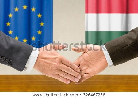 歐洲聯盟 匈牙利 握手 業務 手 成功 商業照片 © Zerbor