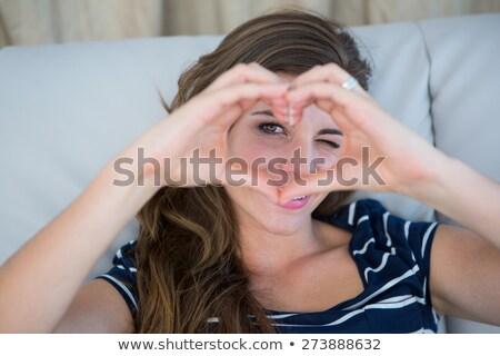 Manos corazón casa fiesta amor edificio Foto stock © shawlinmohd