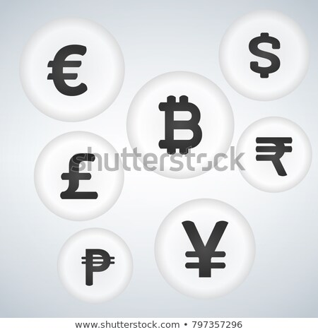 Yen Currency Sign Circular Vector Red Web Icon Button Stock photo © rizwanali3d