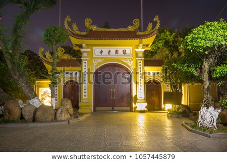 Burmese pagoda gate Stock photo © smithore