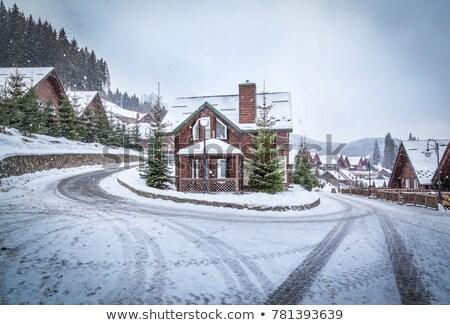 Bois chalet hiver bois maison construction Photo stock © Paha_L