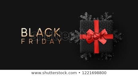 black · friday · vásár · szalag · szett · vektor · árengedmény - stock fotó © pashabo