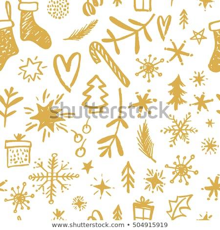 ベクトル シームレス クリスマス デザイン 氷 冬 ストックフォト © alexmakarova