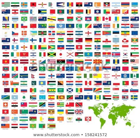 Brazília dél Szudán zászlók puzzle izolált Stock fotó © Istanbul2009