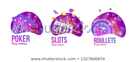 Slot and casino logo Stock photo © cienpies