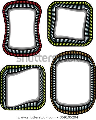 Stahl Techno Ecke Rahmen Schatten weiß Stock foto © Melvin07