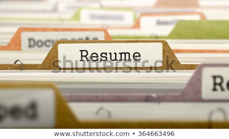 Folder in Catalog Marked as Resume. Stock photo © tashatuvango