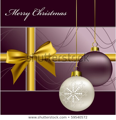 christmas · lint · boeg · kaart · vector · formaat - stockfoto © piccola